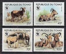 Tschad WWF Mähnenspringer Mi 1171/1174  postfrisch  KW 16,00€, M45