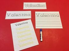 Wipe N Write CUSTOM Names Card Kit - Laminated Card - PERSONALIZED FOR YOU CHILD
