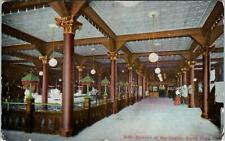 SANTA CRUZ, CA California   INTERIOR of the CASINO   1908    Postcard