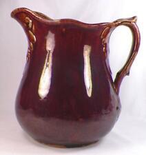 Antique Bennington Glaze Stoneware Pitcher Large A Beauty