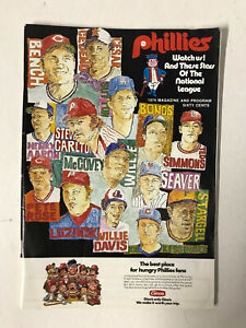 ORIGINAL 1974 PHILADELPHIA PHILLIES VS PITTS. PIRATES SCORECARD/PROGRAM