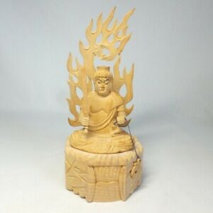 D0909: Popular Japanese Buddhist statue of FUDO-MYOO (Acala) of wood carving