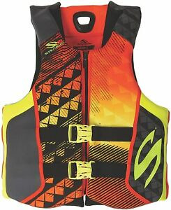 Stearns Hydroprene Neoprene Adult Mens Life Jacket Wakeboard Vest Orange