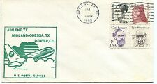 FFC 1983 First Flight Abilene Midland/Odessa Denver US Postal Service