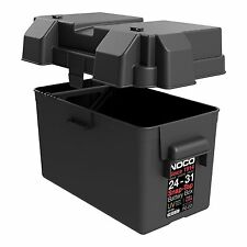 Black Automotive Marine Snap Top Battery Box Case Group 24 -31 Boat Yacht Kit RV