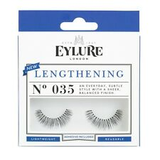 Eylure Lengthening #035 False Eyelashes Fake Lashes Black Eyelash Strip