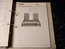 SABA Recorder Radio Cass. CR 833 uvm. Service Manual choose 1piece 1Stück wählen