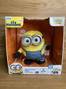 """Minions 8"""" Sing and Dance Bob by Thinkway Toys Despicable Me BRAND NEW"""