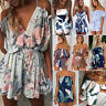 Womens Sexy Boho Playsuit Jumpsuit Rompers Summer Beach Casual Mini Shorts Dress