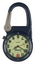 Entino Brand Silver Clip on Blue Carabiner Sturdy FOB Watch Military Style