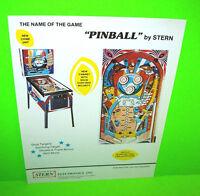 Stern PINBALL Original 1977 (EM) Flipper Game Pinball Machine Promo Sales Flyer
