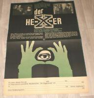 Filmplakat DDR ,Progress  DER HEXER,EDGAR WALLACE,J Fuchsberger,Heinz Drache