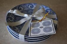 222 Fifth Lyria Blue Dessert Appetizer Plates - S/4