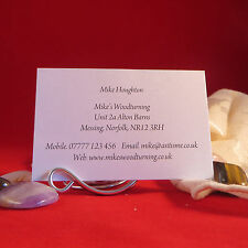 Personalised Business Cards for Crafters Stall Information Address Promotional