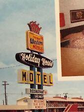 RARE VINTAGE 1967 POSTCARD: HOLIDAY HOUSE MOTEL, ELK CITY, OKLAHOMA.
