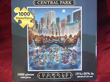 """Central Park"" 1000 p. Dowdle Folk Art with Poster Excellent Condition"