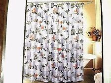 Mariposa Butterfly Polyester Fabric Shower Curtain 12 Hooks Bath Home New