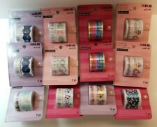 LOT OF 12 Paper Tape Decorative Stamping Scrapbooking Masking Planner tape