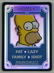 the Simpsons Trading Card Game - Homer FOIL #2/156 - 2003 - TCG
