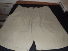MENS BARACUTA 100% SILK SHORTS SIZE 34 WAIST KHAKI TAN PLEATED