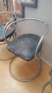 3 Vladimir Tatlin Chrome Chairs - Rare - 1927 -1950 Russian Contructivist