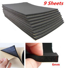 9 Sheets Flame Retardant Sound Proofing Waterproof Closed Cell Foam 6mm Thick