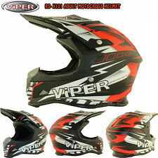 Viper RSX121 Casco Adulto Mx Motocross Enduro Quad Bici de la suciedad fuera de carretera MX Red