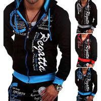 Men's Winter Slim Zip Hoodies Warm Hooded Sweatshirt Coat Jacket Outwear Sweater