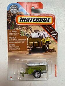 MATCHBOX OFF-ROAD GREEN TRAILER TRAWLER #94 Boat MBX 4X4 TLR Metal diecast