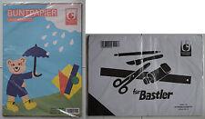 Buntpapier (25 Bl., 10 Farben) + Scherenschnittpapier (25 Blatt), A4, ungummiert