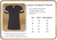 ss LAT - Women's Football V-Neck Fine Jersey Tee - 3537