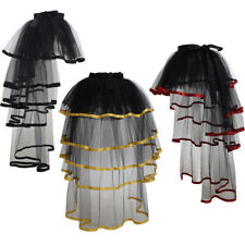 Gothic Lady Tulle Bustle Punk Bustle Skirt Burlesque Tutu Lace Rocky Skirt