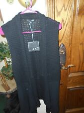 RXB NWT LONG SWEATER VEST...SIZE LARGE...RETAIL $58.00