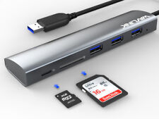 Wavlink USB3.0 Hub,3 USB3.0 Ports&SD/Micro SD Card Reader Combo,5-in-1 mini dock
