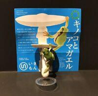Kitan Club Nature Techni Green Tree Frog Destroying Angel Mushroom Figure