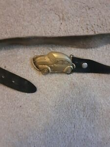 Vintage VW Beetle Style Leather Belt