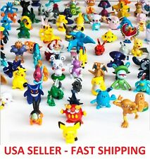 10 pcs Pokemon Go Monster Mini Figures Cake Toppers Party Favors, Pikachu RANDOM
