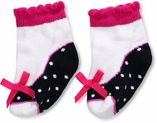Mud Pie Baby Girl Infant Black and White Gold Star Socks 0-12 Months