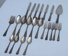 LOT OF VINTAGE 1881 ROGERS BROS A1 22 Pieces Silverplate Flatware Art Deco