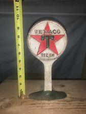 Antique Vintage Cast Iron Texaco Doorstop *No Reserve*