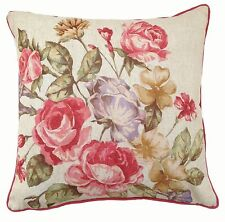 Wool Blend Floral Square Decorative Cushions