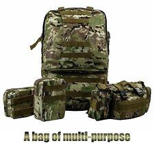 Military Tactical Backpack Waterproof Hunting Hiking Camping Large Camo Bag 55L