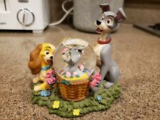 Disney Lady and the Tramp with Scamp Snow Globe Mini Figurine Exclusive