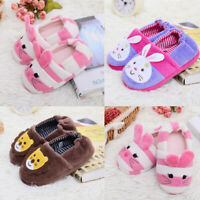 Toddler Children Kid Baby Winter Warm Shoes Boy Girl Cartoon Soft-Soled Slippers