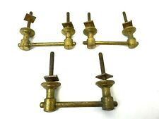Set of 3 Modern Vintage Used Metal Brass Unusual Art Deco Style Handles Pulls
