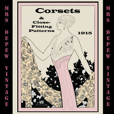 Vintage Sewing Book 1910's Corsets and Close-Fitting Patterns Ebook How To on CD
