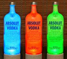 Absolut Vodka Color Change Remote Control Liquor Bottle Lamp Bar Light Sweden