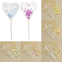 10pcs/Set Love Heart Balloons Cake Topper Multicolor Home Birthday Wedding Party