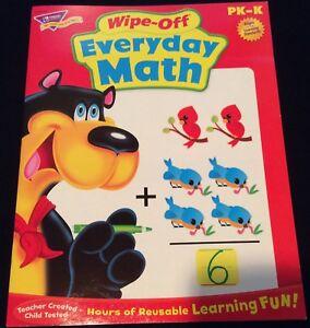 Everyday Math Wipe/ Off Workbook Pre-Kindergarten-Kindergarten