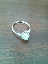Handcrafted ring with quartz gemstone - size S - now reduced to clear